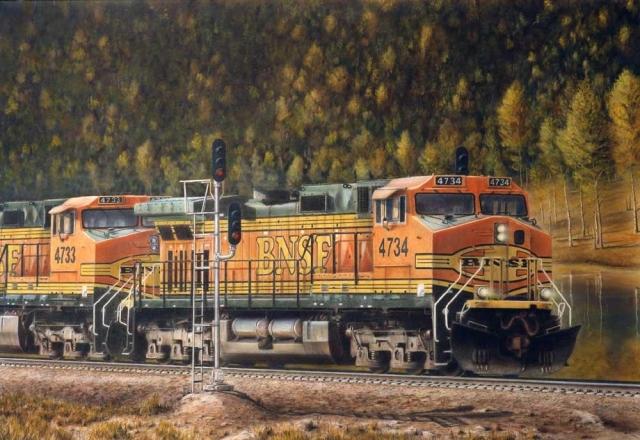 """Autumn Titans"" painting by Greg Garrett"