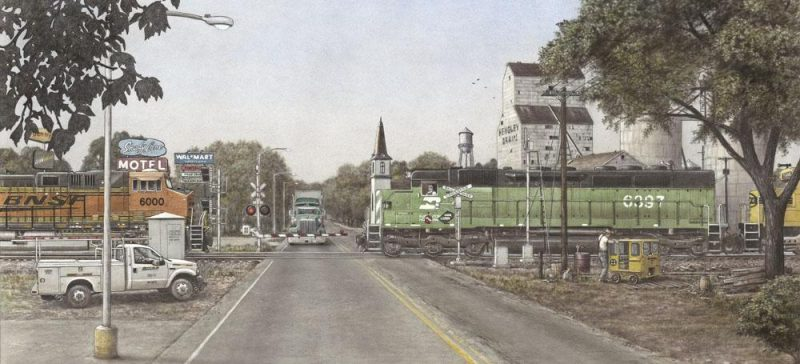 """Bacintyme Boulevard"" painting by Greg Garrett"