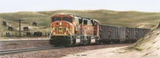 """Big Macs"" - Burlington Northern and Santa Fe Railway Painting by Greg Garrett"
