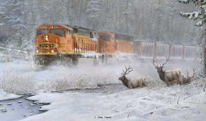 """Close Encounter"" painting by Greg Garrett"