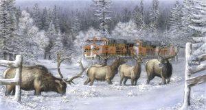 """Frozen Thunder"" painting by Greg Garret"
