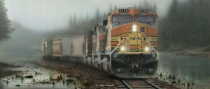 """Giants in the Mist"" painting by Greg Garrett"
