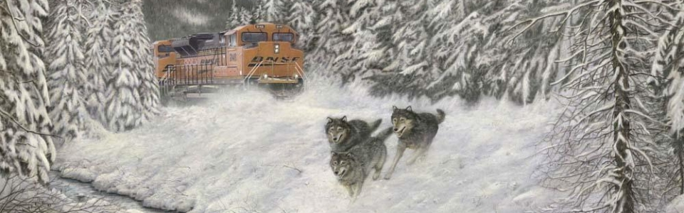 """""""In Hot Pursuit"""" painting by Greg Garrett"""