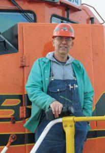 Greg Garrett - Coal Car Inspector / Artist- at work for BNSF Railroad