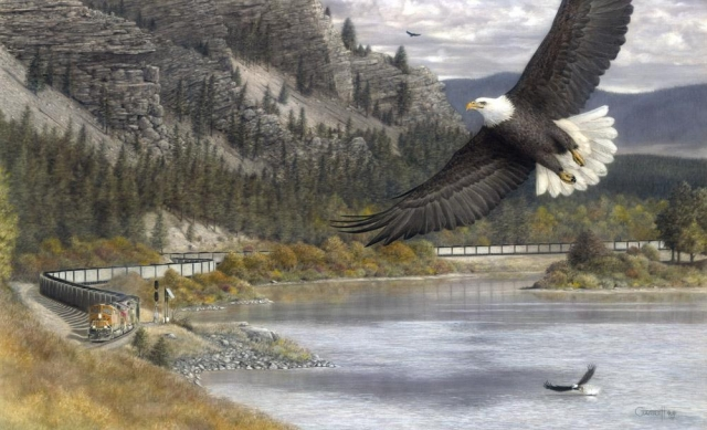 """On Swift Wings"" painting by Greg Garrett"
