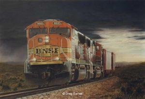 """""""Sandhills Fury"""" painting by Greg Garrett"""