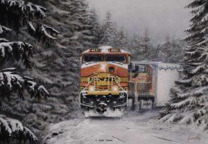 """Tough Act To Follow"" painting by Greg Garrett"