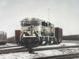 """""""Tying Up"""" painting by Greg Garrett"""